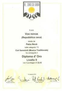 diplom - Vox Novus - Itálie - Riva del Garda